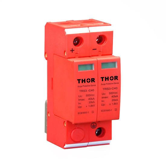 PV Surge Protection Device 500V DC Surge Arrester Solar Surge Protector pictures & photos