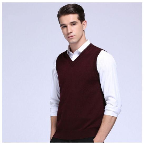 ed0c8229593f China Fine Quality Cashmere Mens Wool Sweater Vest - China Woolen ...