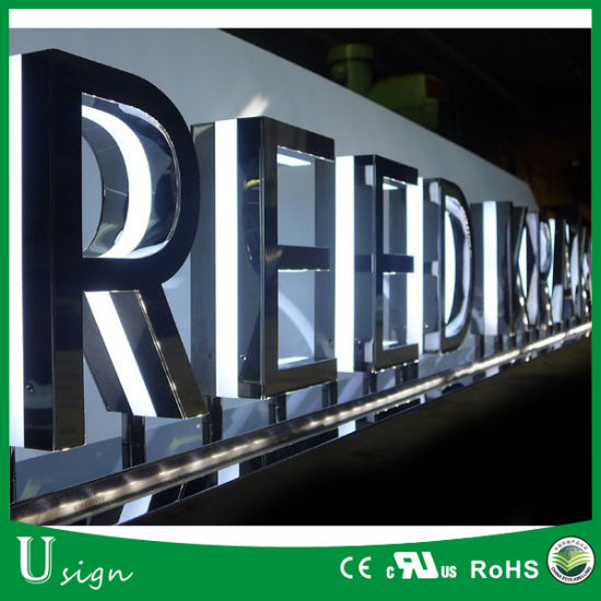 Customized Outdoor Advertising Backlit 3D Metal Sign Letters