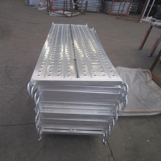 Wandplank 1 Meter.China Galvanized Scaffold Board Plank Steel Scaffold Plank With Hook