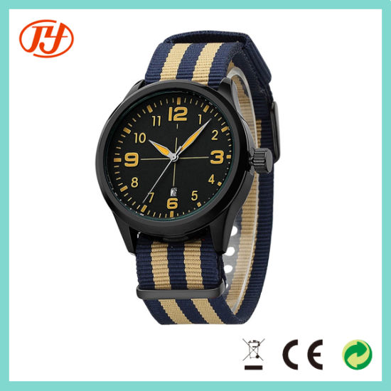 Custom Logo Manufacturer Japanese Nato Strap Wrist Watch pictures & photos