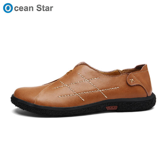 1b39d52dc4a New 2019 Fashion Spring Autumn Mens Flats Men Loafers Genuine Leather  Driving Shoes