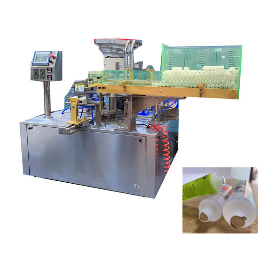 High Speed Laminated Tube Foil Sealing and Capping Machine