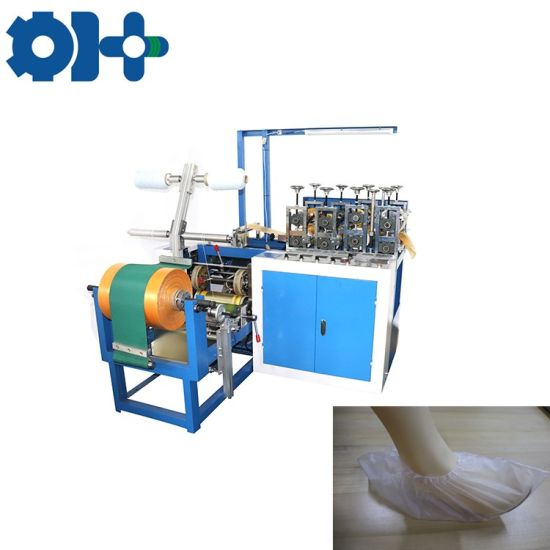 Dustproof Disposable Embossed PE CPE Shoe Cover Making Machine