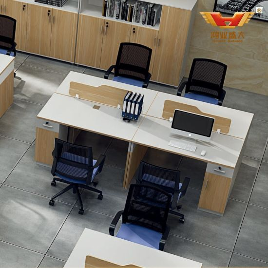 Open Plan 4 Person Seats Office Cubicle for Staff (H85-0248)