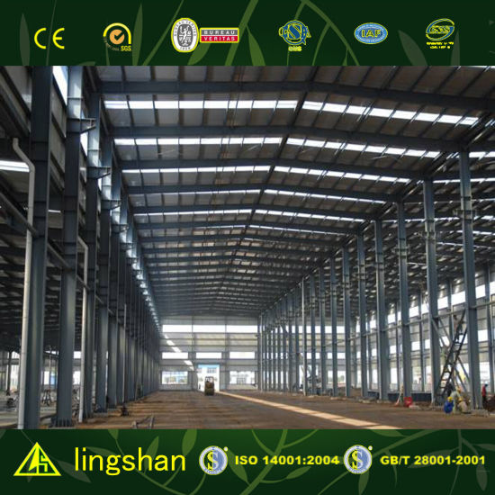 Prefabricated Steel Workshop Building With Crane pictures & photos