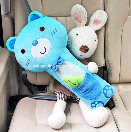 China Cartoon Comfortable Lint Car Seat Belt Cover Pillow Shoulder