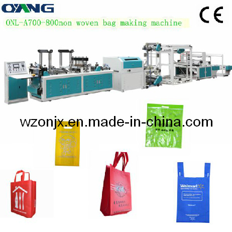 Onl-A700-800 Full Automatic Non-Woven Fabric Bag Making Machine pictures & photos