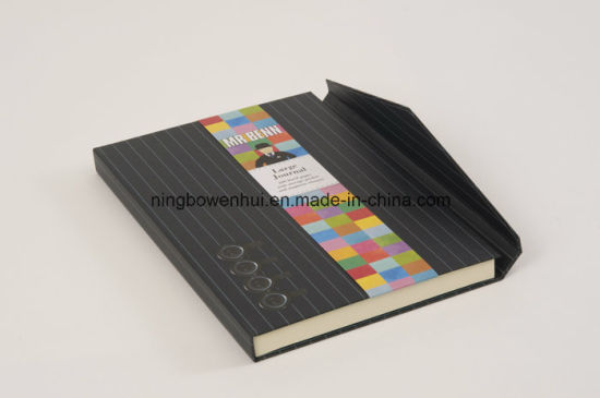 Stationery Hardcover Pocket Lined Journal with Magnet pictures & photos