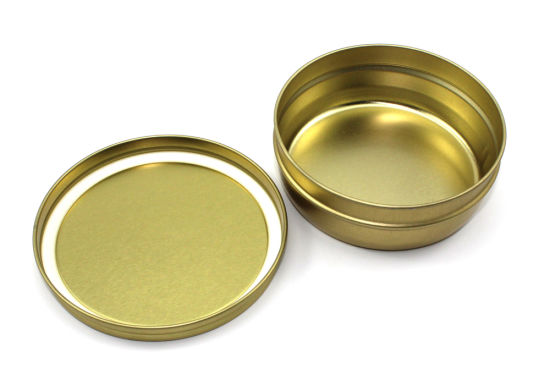 Caviar Cans Under Vacuum Golden Varnish Food Safe 100g Container