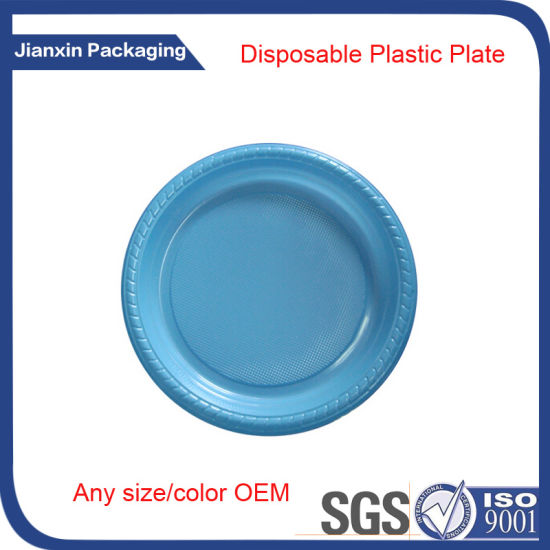 Recyclable Disposable Plastic Round Plate Tray pictures & photos
