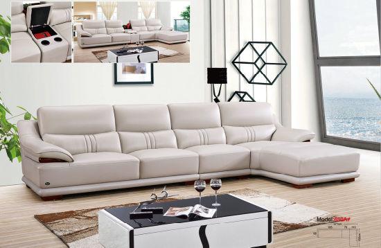 China Sofa Furniture Set Real Leather Sofa L Shape Leather Sofa