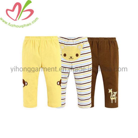 Wholesale Casual Skinny Girls Leggings with Custom Applique