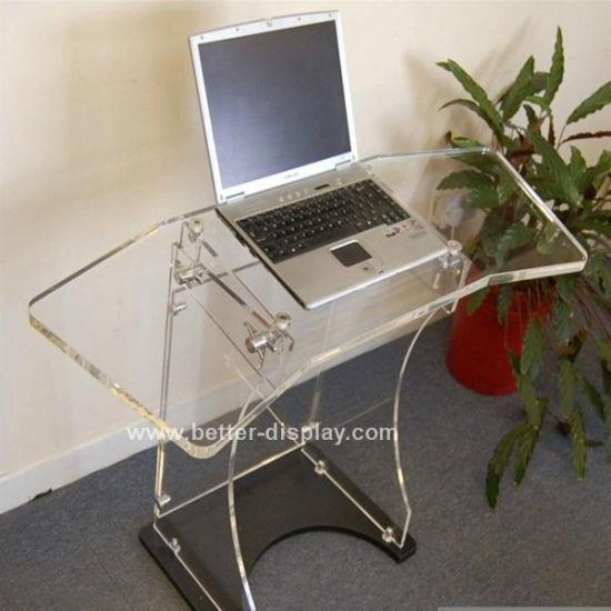 Clear Acrylic Portable Computer Desk Folding Table (BTR-Q2007)