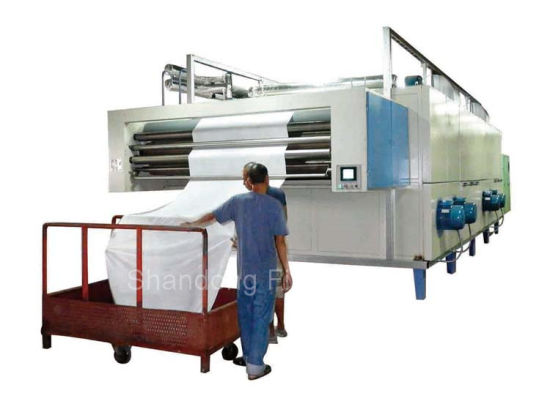 Textile Relax Dryer Finishing Machinery Used for Drying Cylinder and Open-Width Fabric with Three-Layer Net Belt