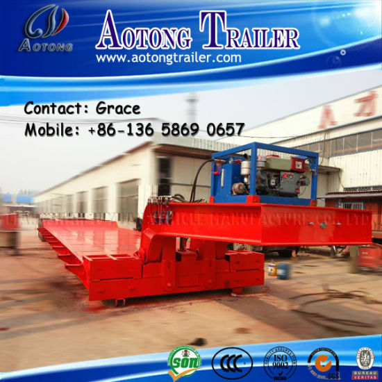 China Manufacturer Detachable Hydraulic Gooseneck Low Bed Trailer pictures & photos