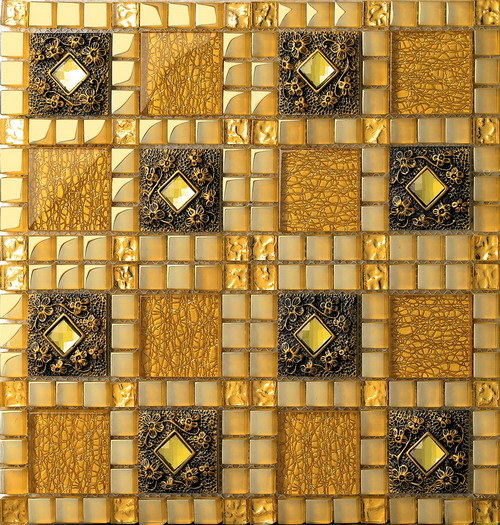 Decoration Material Wall and Floor Tile Glass Mosaic Ma-GS1003