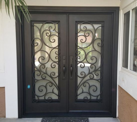 Elegant Residential Wrought Iron Security Doors In China China
