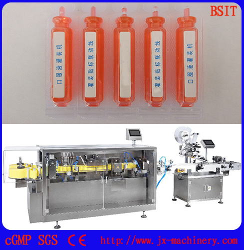 Pharmaceutical Machinery Automatic Plastic Bottle Liquid Filling Sealing Machine pictures & photos