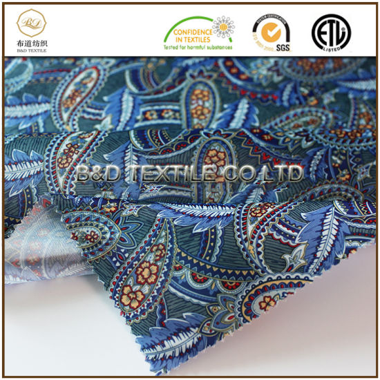 Hot Sale Polyester 270t Satin Printed Lining Fabric for Men's Garment