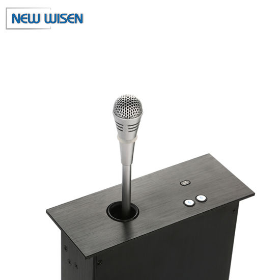 Audio Microphone System Motorized Hidden Microphone Lift Video Conference System