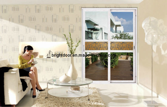 Aluminium Sliding Doors with Stainless Steel Screen pictures & photos