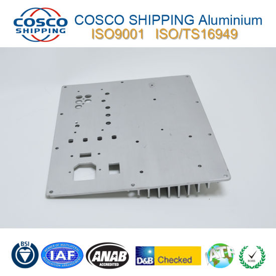 6063-T5 Aluminum Profile Extrusion for Heat Sink with CNC Machining pictures & photos