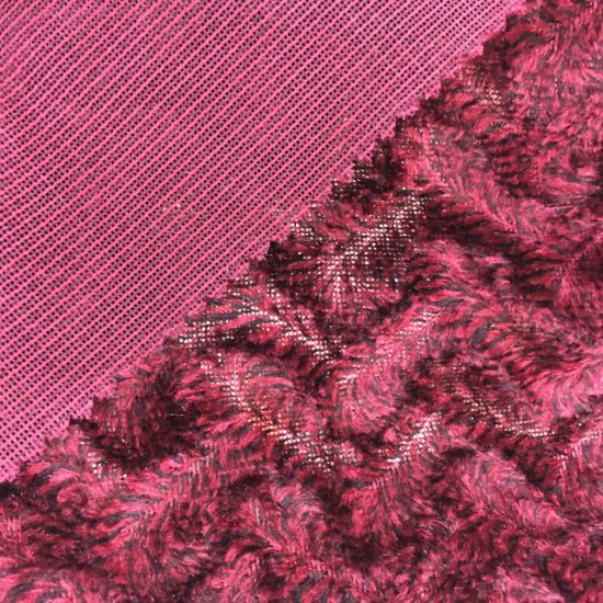 100%Polyester Two Tones Knitting Velvet (SH002) pictures & photos