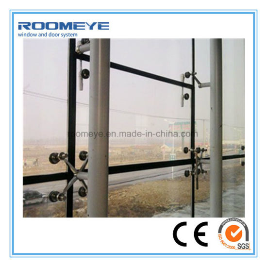 Roomeye Curtain Wall Point Support Systems Insulation Thermal Curtains Glass Wall (RMCW-102) pictures & photos