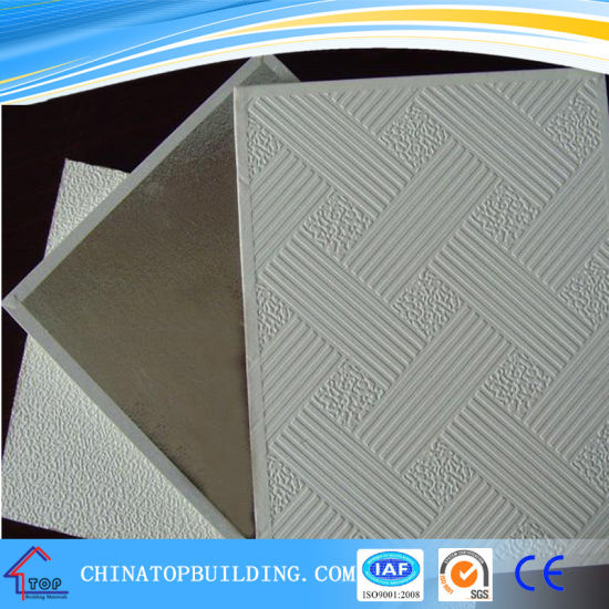 Interior Ceiling Tile Embossed Pvc Gypsum Board For