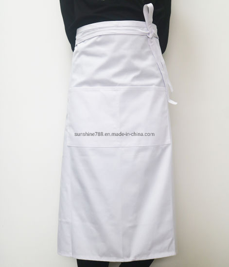 High Quality Barista Bartender Cooking Chef Bar Bakery White Waist Apron