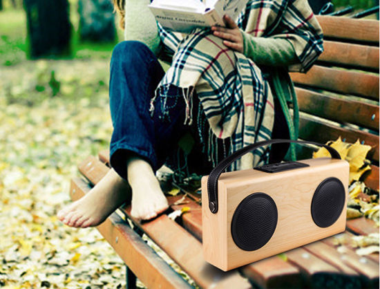 60 dB Stereo Portable Bluetooth Wooden Speaker