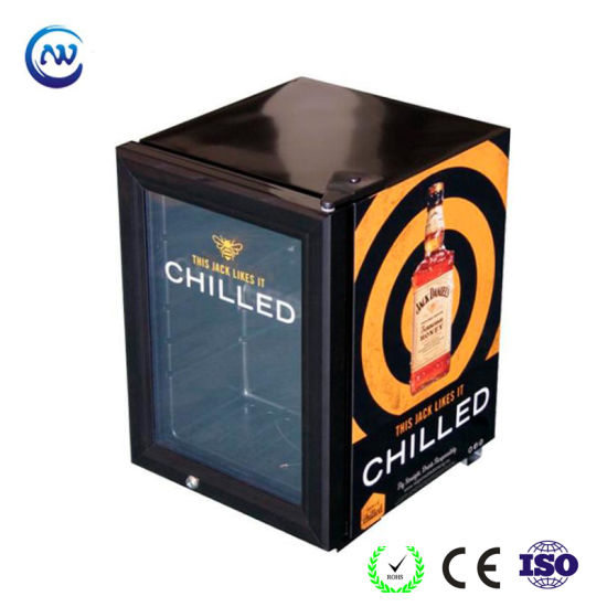 Commercial Home Kitchen Minibar Counter Glass Door Fridge Beer Soft Drink Beverage Mini Refrigerator for Hotel Mini Bar (JGA-SC21)
