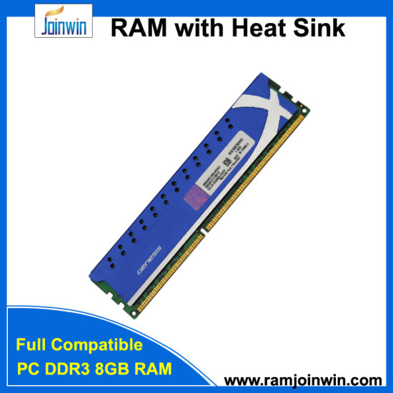 Shenzhen Factory PC3-12800 RAM 8GB DDR3 1600 with Heat Sink pictures & photos