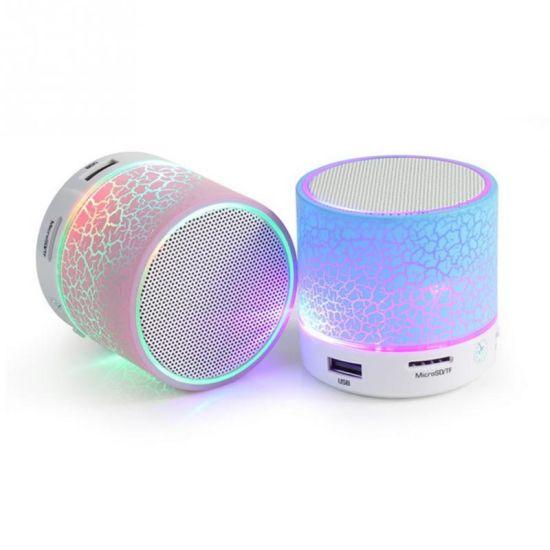 A9f Mini Colorful LED Light Wireless Portable Bluetooth Crack Speaker