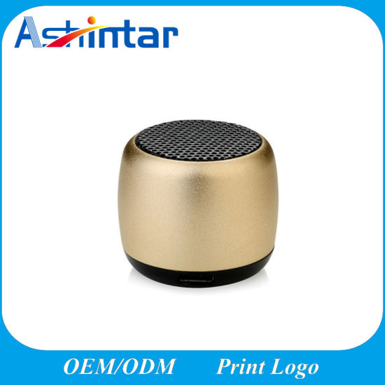 MP3 Player Handfree with Mic Speaker Mini Metal Loudspeaker Portable Bluetooth Speaker pictures & photos