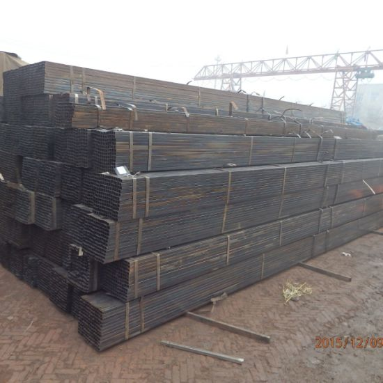 Manufacturer Rectangular Black Tube Price Hollow Section ERW Welded Square Steel Pipe