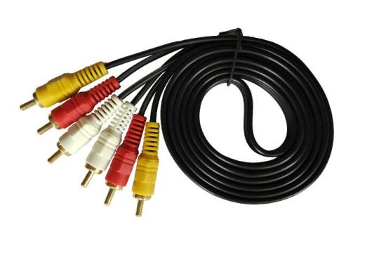 3 RCA to 3 RCA Audio Cable Male to Male 1.8m 6FT pictures & photos