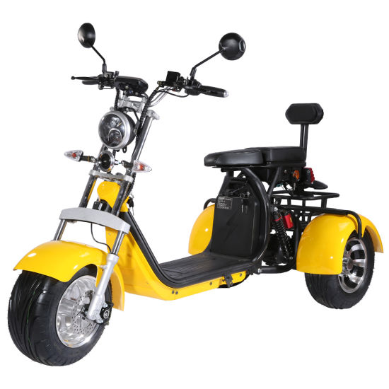 Coc/EEC Approval Design 3 Wheel Electric Scooter 1500W 2000W Citycoco for Adult Legal on EU Road pictures & photos