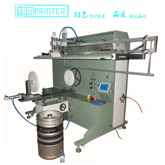 Cylinder Screen Printing Machine for Keg Pail Bucket Barrel pictures & photos