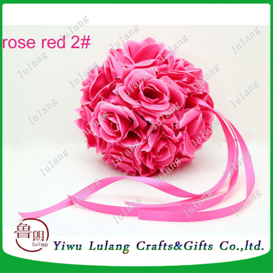 China rose red silk rose pomander wedding party kissing ball china rose red silk rose pomander wedding party kissing ball mightylinksfo
