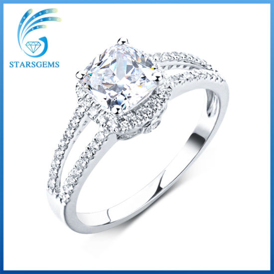 18K White Gold Plated High Quality Cubic Zirconia Silver Ring for Sale pictures & photos