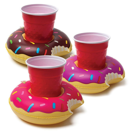 Mini PVC Inflatable Donut Drink Holder Floating pictures & photos