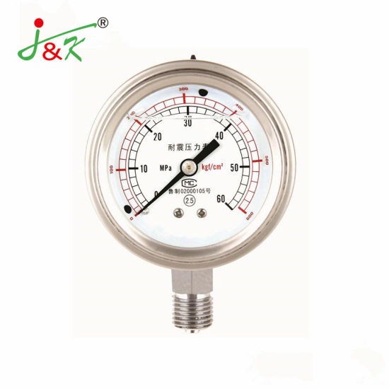 Shock-Resistant Pressure Gauge with Good Quality