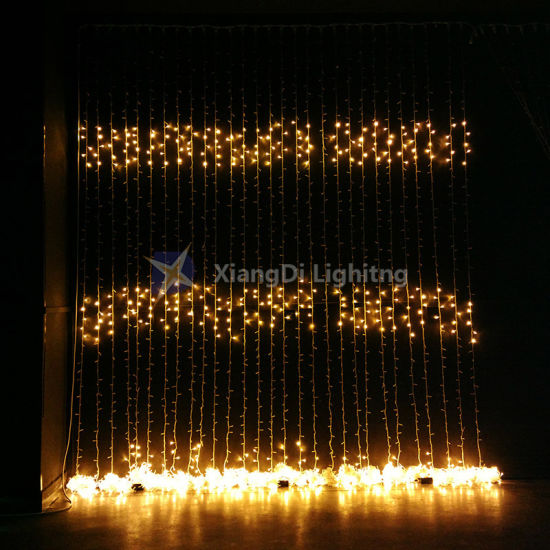 Outdoor Curtain Lighting Led Christmas Waterfall Lights