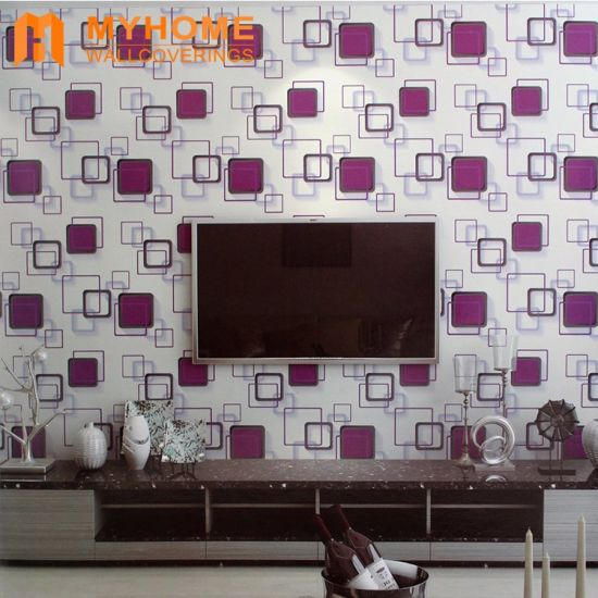 China Wholesale Price Wall Paper Wall Decoration Geometric Wallpaper pictures & photos
