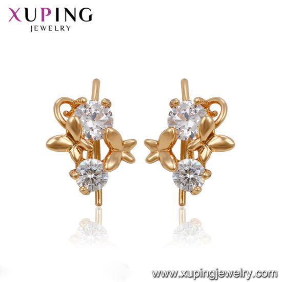 525140f476a32 China Butterfly Copper Graceful Gold Hoop Earring - China Fashion ...