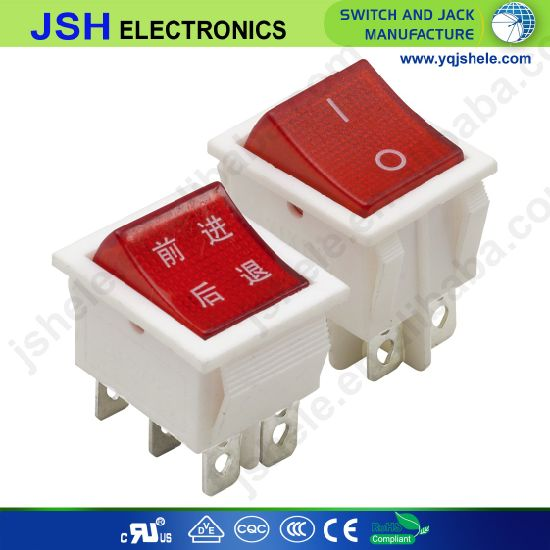 White Dpdt on-off-on Rocker Switch O-I: Momentary O-II: Latching