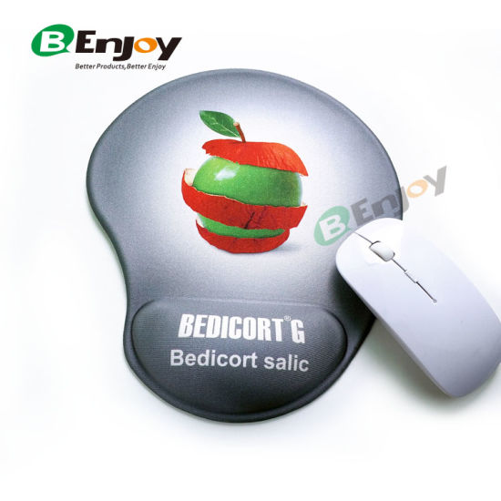 Hot Item Custom Logo Printed Gel Mouse Pad With Wrist Rest