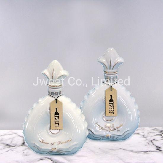 Good Quality Ceramic Plating Gold 1000ml Vodka Beverage Bottle
